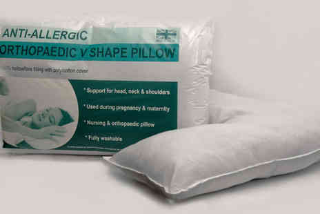 Direct Warehouse - Orthopaedic V shaped pillow - Save 0%