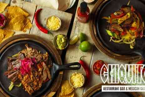 Chiquito - Two Course Tex Mex Meal for Two - Save 54%