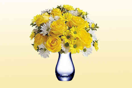 KNPH - Sunny Bouquet with chrysanthemums and roses - Save 60%
