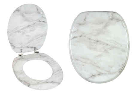 Price Buster - Marble effect toilet seat - Save 65%