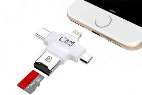 Wow What Who - 4 in 1 Usb memory card reader choose from two colours - Save 73%