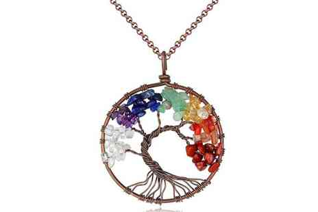 Your Ideal Gift - Rainbow tree of life chakra necklace - Save 85%
