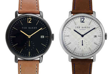 Brand Arena - Mens Ted Baker brown leather watch - Save 80%