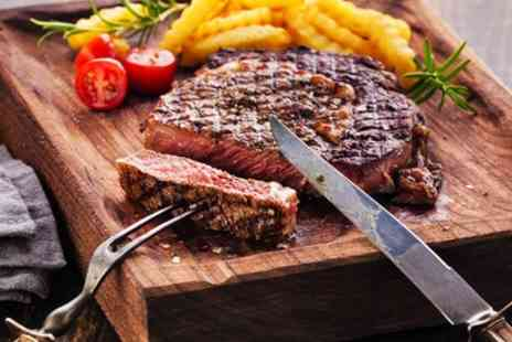 Fat Cafe - Steak and Chips with Soft Drink for Up to Four - Save 44%