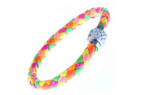 Your Ideal Gift - Rainbow leather crystal clasp bracelet - Save 0%