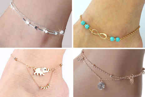 Victorias Candy - Pack of five charm anklets - Save 78%