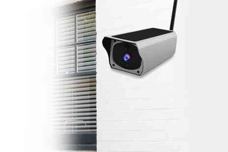 EnerJ - Solar powered WiFi enabled security camera - Save 40%
