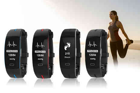 hey4beauty - Smart watch activity tracker choose from four colours - Save 67%