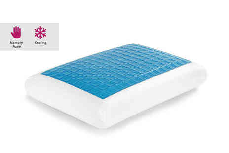Direct Warehouse - Memory foam cooling gel pillow - Save 50%