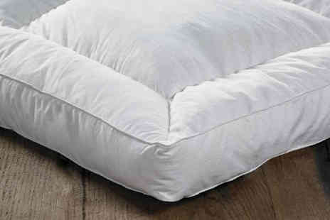 Direct Warehouse - 12.5cm deep duck feather and down mattress topper choose from five sizes - Save 62%