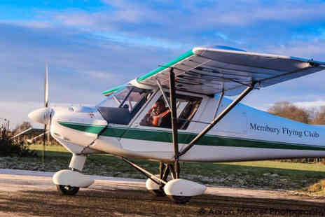 White Horse Aviation - One hour flying lesson including club membership, briefing and certificate - Save 55%