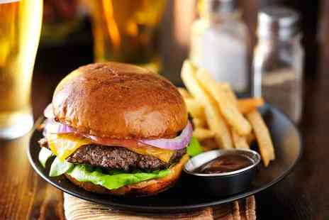 The Crown Inn - Burger with five sides for two people and a drink each - Save 56%