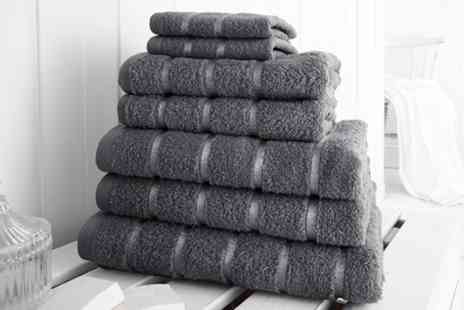 Groupon Goods Global GmbH - Elizabeth Jayne Seven Piece 500gsm Egyptian Cotton Towel Bale - Save 0%
