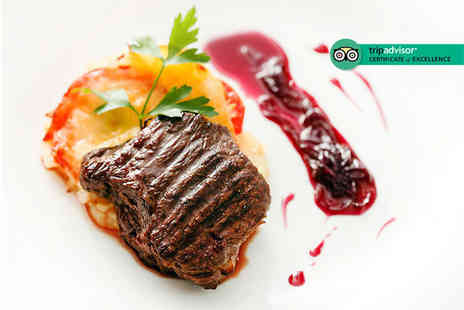 Hilton Canary Wharf - Two course dinner for two people with a soft drink each - Save 67%