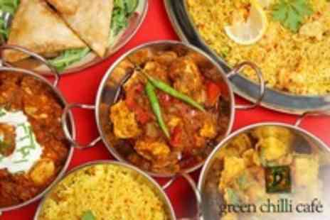 Green Chilli Cafe - Six Indian Tapas to Share For Two  Plus Mango Lassi Each  - Save 54%