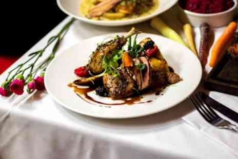 AM:PM Bohemian Restaurant - Two Course Meal with Wine for Two or Four - Save 44%