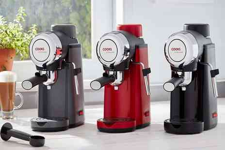 CJ Offers - Cooks Professional coffee machine choose from three colours - Save 50%