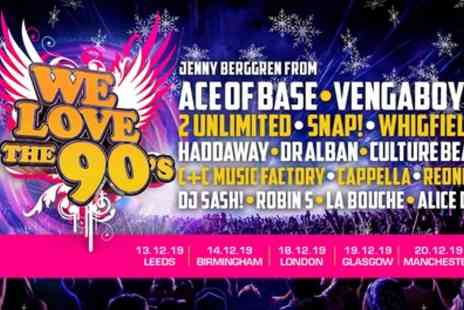 We Love The 90s - One general admission ticket from 13th To 20th December - Save 50%