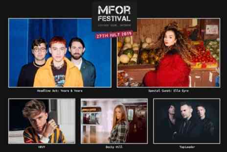 MFor Festival 2019 - One child or adult ticket with Years & Years on 27th July - Save 15%