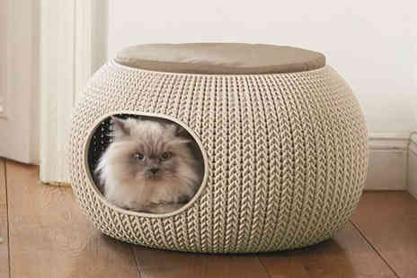 Dream Price Direct - Knitted effect cosy pet home - Save 62%