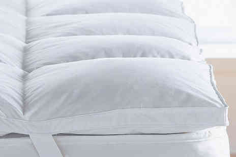 Direct Warehouse - Extra soft 5cm goose feather and down mattress topper - Save 65%