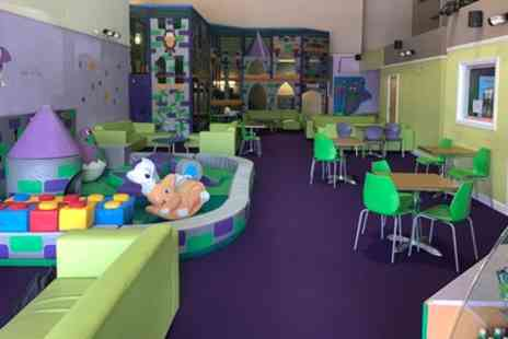 Dizzy Dragons Softplay - Kids Play Arena Entry with Lunch for Child and Hot Drink for Adult - Save 0%