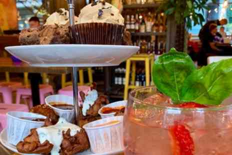 Yard and Coop Leeds - Fried Chicken Afternoon Tea with Glass of Gin for One, Two or Four - Save 30%