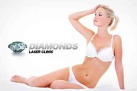Diamonds Laser Clinic - Laser Hair Removal Six Sessions on One Medium or Two Small Areas - Save 78%