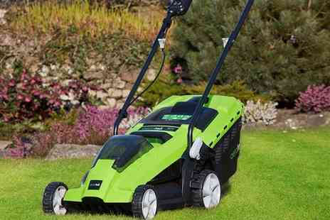 CJ Offers - Aerotek 40V cordless lawnmower or Lawnmower with a spare battery - Save 34%