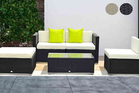 Mhstar - 5 Piece Rattan Sofa Furniture Set Available in 3 Colours - Save 69%