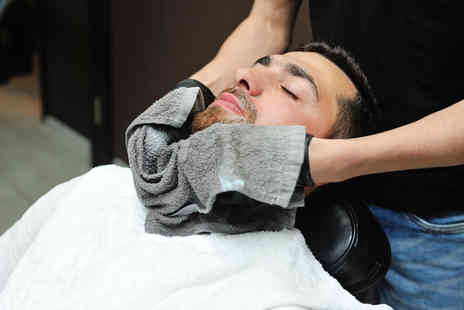 Jason Shankey - Mens grooming package including a haircut, a luxury towel shave and refreshments - Save 61%