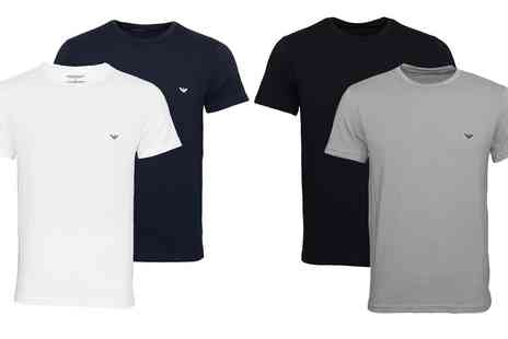 Groupon Goods Global GmbH - One or Two Emporio Armani Mens Lounge Tshirts - Save 0%