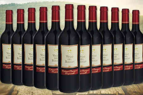 MGB Lifestyles - 12 Bottles of Vegas Del Bodion Tempranillo Red or White Wine - Save 70%