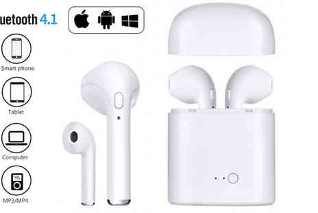 DML Solutions - Apple & Android Compatible Wireless Earbuds with Optional Charging Dock Choose from 2 Colours - Save 78%