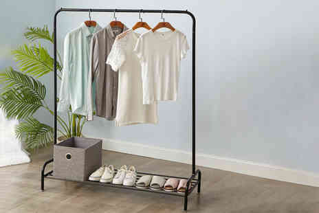 Vivo Mounts - Heavy duty clothes rail with shoe rack - Save 59%