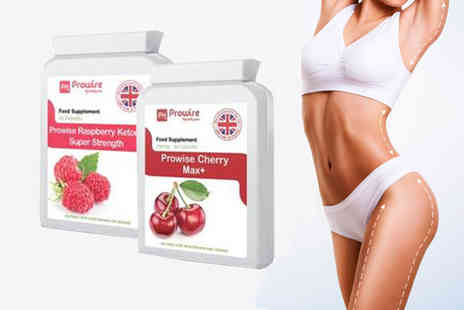 Prowise Healthcare - Raspberry ketones and cherry capsules bundle - Save 75%