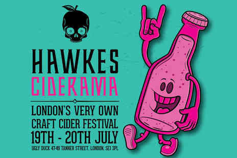 Hawkes London - Ticket to Hawkes Ciderama craft cider festival including a glass and drink on Friday 19th or Saturday 20th July - Save 53%