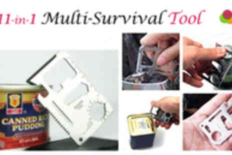 Smartass - 11-in-1 Multi-Survival Tool Card - Save 69%