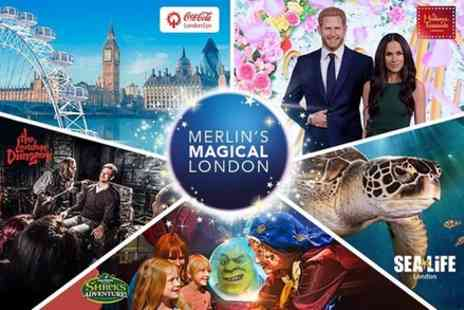 Madame Tussauds - Magical London Pass, The London Eye, Sea Life London, The London Dungeon and Shreks Adventure London - Save 0%