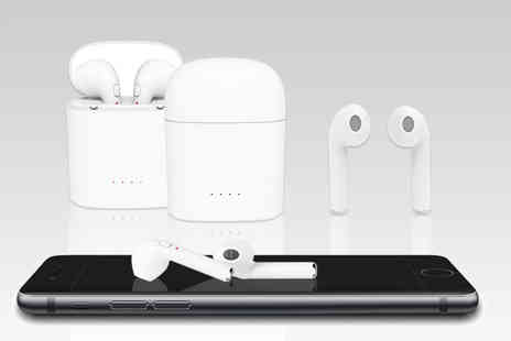 Wowcher Direct - Pair of Apple compatible wireless earbuds with charging case - Save 0%