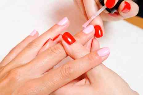 Angels Beauty Bar - Gel Manicure or Pedicure or Both with Optional Glass of Prosecco - Save 40%