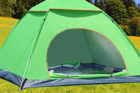 Bag a Bargain - Foldable 2 To 3 Person Waterproof Tent With Carry Bag Choose from Three Colours - Save 78%