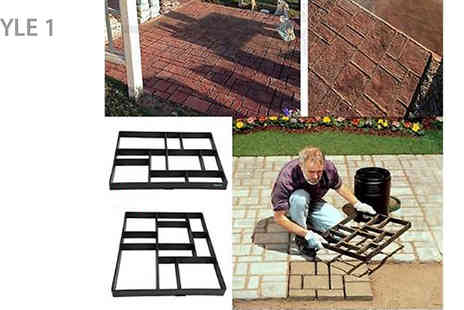 Bag a Bargain - Reusable Concrete Path And Driveway Moulds Choose from Four Styles - Save 63%