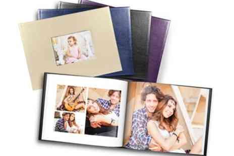 Printerpix - One or Two 20, 40 or 60 Page A4 or 20cm x 20cm Leather Window Photobooks - Save 71%