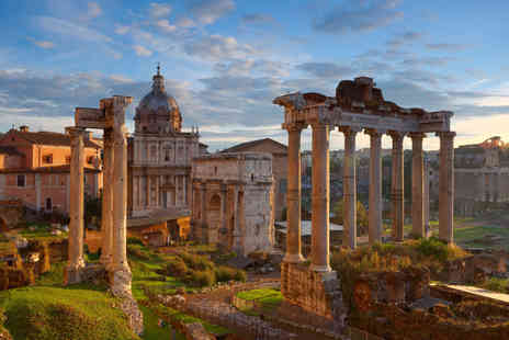 Travel Center - Two nights Rome holiday with a glass of Prosecco on arrival and return flights - Save 51%