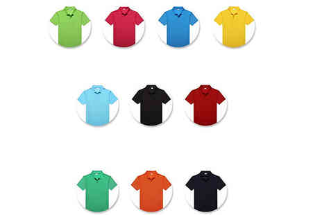 Bag a Bargain - Five Pack Mens Uniform Pique Polo Shirts Choose from Four Sizes And Three Options - Save 67%