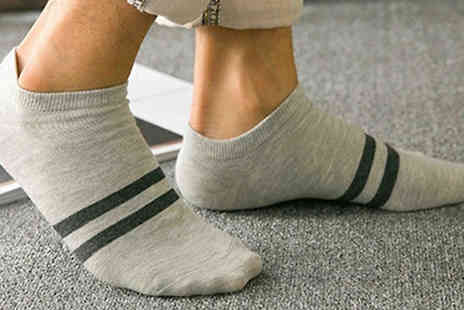 Bag a Bargain - 30 Pairs of Mens Assorted Low Cut Socks - Save 73%