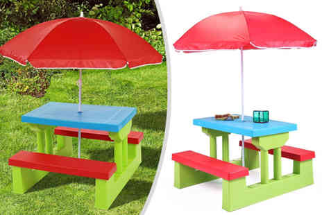 Zoozio - kids picnic table And bench set - Save 57%