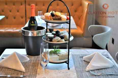 Clayton Hotel City of London - Afternoon Tea with Glass or Bottle of Prosecco for Two or Four - Save 57%