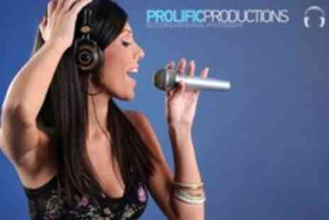 Prolific Productions - Studio Recording Session For Up to Four With Photo Shoot and Demo CD - Save 76%